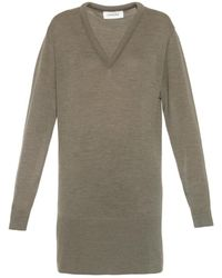 Lemaire V-Neck Wool Sweater - Lyst