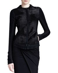 Donna Karan New York Fur Body Jacket - Lyst