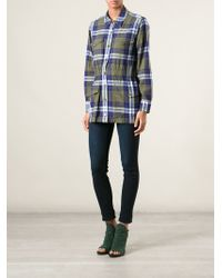 Equipment Fitted Waist Checked Shirt - Lyst