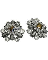 Kate Spade Space Age Floral Studs Earrings - Lyst