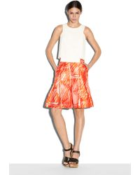 Milly | Scribble Print Cropped Culotte | Lyst
