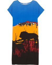Diane Von Furstenberg Harriet Printed Silkblend Crepe Dress - Lyst