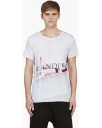 J.W. Anderson White Photo Print Logo Backstage Tshirt - Lyst