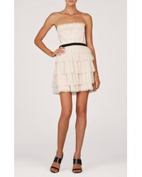 BCBGMAXAZRIA Dress - Rayna Strapless Ruffle - Lyst