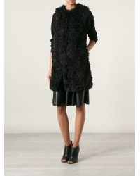 MICHAEL Michael Kors Faux Fur Sleeveless Coat - Lyst