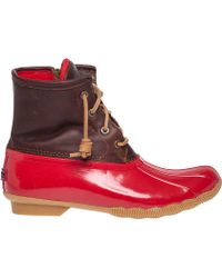 Sperry Top-Sider Saltwater Core Waterproof Boot red - Lyst