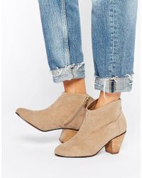 Daisy Street - Taupe Western Style Heeled Boots - Taupe - Lyst