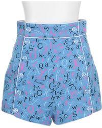 Olympia Le-Tan Shorts blue - Lyst