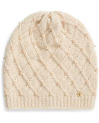 Tory Burch - Pearl Cable Hat - Lyst