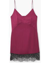 Mango | Lace Appliqué Dress | Lyst