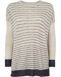 Linea Weekend Mohair Blend Striped Jumper - Lyst