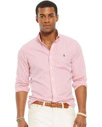 Polo Ralph Lauren Custom-Fit Poplin Shirt - Lyst