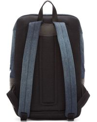 Diesel Blue Denim And Leather Urban Pack Backpack - Lyst