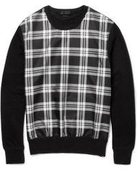 Alexander McQueen Woven Silkblend and Cottonblend Jersey Sweater - Lyst