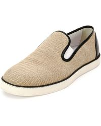 Bottega Veneta | Woven Canvas Slip-on Sneaker | Lyst