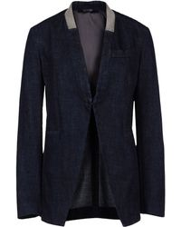 Brunello Cucinelli Denim Jacket with Monili Collar - Lyst