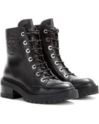Kenzo Tiger Leather Boots - Lyst