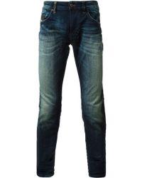 Diesel Thavarn Washed Jeans - Lyst