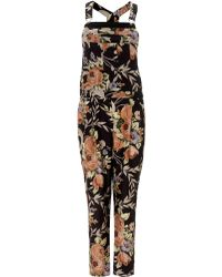 Zimmermann Rococo Floral Keeper Overalls - Lyst