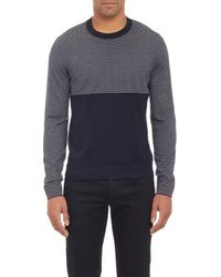 Theory Blue Clemunt Sweater - Lyst