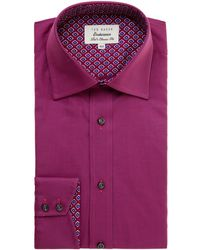 Ted Baker Yeovil Regular Fit Puppytooth Shirt - Lyst