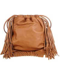 Sara Battaglia - David Fringed Leather Backpack - Lyst