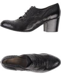 Lena Milos Black Laceup Shoes - Lyst
