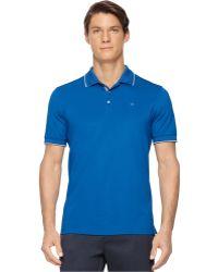 Calvin Klein Core Tipped Pique Polo blue - Lyst