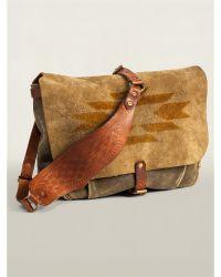 Ralph Lauren Hand-Stenciled Suede Mailbag - Lyst