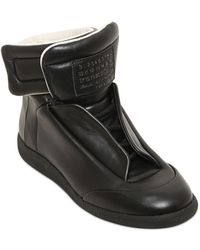 Maison Martin Margiela Future Soft Leather High Top Sneakers - Lyst