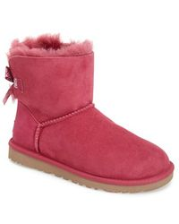 Ugg 'Mini Bailey Bow' Boot pink - Lyst