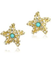 Juicy Couture - Pave Starfish Stud Earrings - Lyst