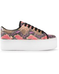 Jeffrey Campbell Platform Lace Up Sneakers - Lyst