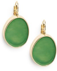 Kenneth Jay Lane Green Drop Earrings - Lyst