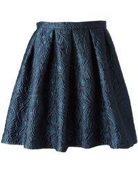 Charlott - Pleated Baroque Mini Skirt - Lyst