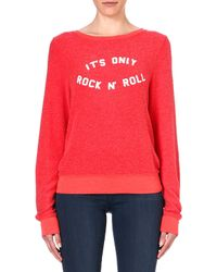 Wildfox Its Only Rock and Roll Sweatshirt Holiday - Lyst
