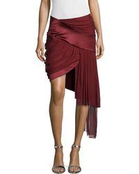 Prabal Gurung - Draped Mini Skirt W/asymmetric Hem - Lyst