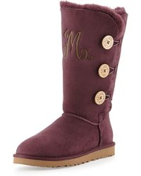 Ugg Monogrammed Bailey Triple Button Boot - Lyst