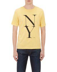 Saturdays Surf Nyc Yellow Ny T-shirt - Lyst