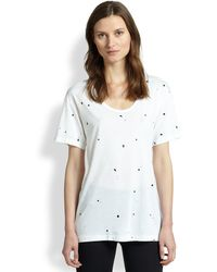 Rag & Bone Splatter Paint Tee - Lyst