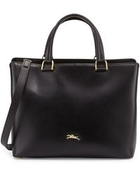 Longchamp Honore Handbag W/Removable Strap black - Lyst