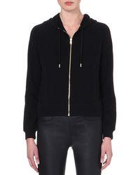 Versus  Branded Jersey Zip-through Hoody Black - Lyst
