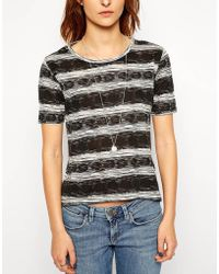 Twenty 8 Twelve Loy Blumenfeld Print Wool Mix Striped Top - Lyst