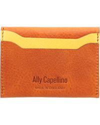 Ally Capellino - Orange Tom Leather Card Holder - Lyst