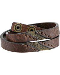 Diesel 00Sg3R 0Daiu Agefty Bracelet brown - Lyst
