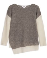 Helmut Lang Brushed Alpaca Two Tone Jumper - Lyst