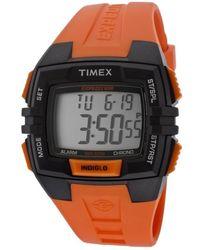 Timex - Mens Expedition Digital Orange Resin Watch - Lyst