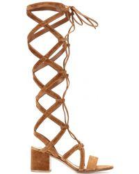 Gianvito Rossi - Suede Gladiator Sandals - Lyst