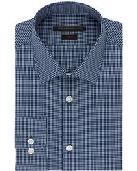 John Varvatos Slim Fit Micro Check Dress Shirt blue - Lyst