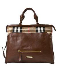 Burberry Brown Big Crush Tote Bag - Lyst